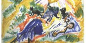 """So könnte Ihr Wochenende aussehen - """"Im Sonnenbad"""" von Ernst Ludwig Kirchner. Foto: Ernst Ludwig Kirchner / Wikimedia Commons / PD"""