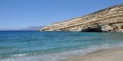 Oui, la Grèce est belle, comme ici à Matala sur l'île de Crète. mais la Grèce se meurt. Foto: Marc Ryckaert (MJJR) / Wikimedia Commons / CC-BY-SA 3.0