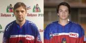 Zwei Neue beim EHC Freiburg: David Virbata (32 Jahre alt, links) und Lukas Valasek (18, rechts) im neuen EHC-Trikot. Fotos: EHC Freiburg / Achim Keller