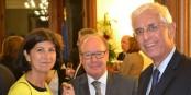 Von rechts nach links - Honorarkonsul Denis Atzenhoffer (Peru), Honorarkonsul Eric Mayer-Schaller (Malta), Frau Atzenhoffer. Foto: EMS / Eurojournalist(e)