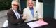 Jean Klinkert und Jean-Georges Mandon nach der Unterzeichnung der Vereinbarung in Colmar. Foto: Eurojournalist(e)
