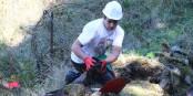 Deutsche und französische Jugendliche arbeiten zur Zeit gemeinsam auf dem Hartmannwillerkopf. Großartig. Foto: Eurojournalist(e)