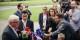 Après la réunion à la Villa Borsig à Berlin, Frank-Walter Steinmeier s'est montré optimiste quant à une solution pour le conflit ukrainien. Foto: Mélanie Gonzales / Eurojournalist(e)