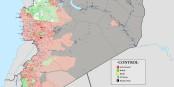 So unübersichtlich war die Lage Mitte September in Syrien. Im Norden toben noch die Kämpfe zwischen dem IS, Assads Truppen, den Kurden und Al Quaida. Foto: Spesh531 / Wikimedia Commons / GNU 1.2