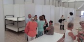 Dans cette structure d'accueil de réfugiés à Freiburg, les représentants de la ville et les citoyens travaillent ensemble pour assurer le meilleur accueil possible. Comme un peu partout actuellement. Foto: Pressebüro Arne Bicker / Eurojournalist(e)