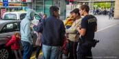 """L'accueil des réfugiés en Allemagne (comme ici à Karlsruhe) est trop tendre pour Nicolas Sarkozy qui veut réinstaurer le délit de """"sale gueule"""". Foto: Claude Truong-Ngoc / Eurojournalist(e)"""