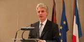 Der neue deutsche Generalkonsul in Straßburg, Botschafter Gerhard Küntzle, hielt am Freitagabend eine bemerkenswerte Rede. Foto: Eurojournalist(e)