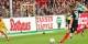 Le meilleur buteur de la L2 allemande, Nils Petersen, marque le 5-1 à la 74e minute. Foto: Eurojournalist(e)