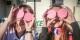 """Die EHC-Fans Stefanie Falkensteiner und Vanessa Kaltenbach aus der Gruppe """"Freiburg84"""" präsentieren zwei rosafarbene Pucks. Foto: EHC Freiburg."""