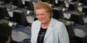 """Catherine Trautmann kämpft für den """"Signle Seat"""" des Europäischen Parlaments - in Strassburg! Foto: Eurojournalist(e)"""