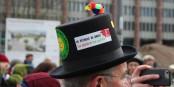 Les alsaciens qui ne pouvaient pas manifester en France samedi, avaient délocalisé leur manifestation pour plus de justice dans la politique climatique, à Freiburg. Foto: Eurojournalist(e)