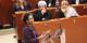 Michaëlle Jean (sous le regard du Prix Nobel Takkawul Karman) a donné la bonne orientation au FMD. Foto: Eurojournalist(e)