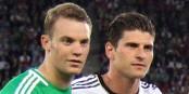 Die beiden könnten heute Abend in Paris auf dem Platz stehen - Manuel Neuer und Mario Gomez. Foto: Steindy / Wikimedia Commons / CC-BY-SA 3.0