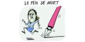 Die Karikaturisten können sie nicht verjagen und ach ja, die rechtsextreme Marine Le Pen (FN) will auch die Todesstrafe wieder einführen. Foto: ActuaLitté / Wikimedia Commons / CC-SA 2.0