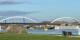 Am Sonntag konnte man vom Straßburger Rheinufer schon meinen, die neue Brücke stünde bereits. Tut sie aber noch nicht. Foto: Stadt Kehl / Annette Lipkowsky