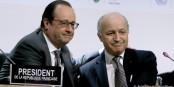 Frankreichs Präsident und sein Außenminister haben alles bei der COP21 gegeben. Foto: (c) Présidence de la République