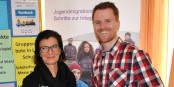 G. Moser und F. Neumann vom JMD2Start-Projektteam. Ein beispielhaftes Projekt. Foto: Neumann