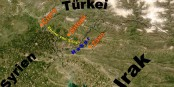 """Ici, dans le triangle """"Turqie - Syrie - Irak"""", Erdogan mène sa guerre - non pas contre le Daesh, mais contre les Kurdes. Foto: http://veimages.gsfc.nasa.gov 5370//SWAsia/A2003122.0800-250m / Wikimedia Commons / PD"""