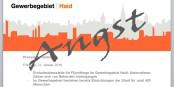 In einer Presseinformation erklärt die IG Haid ihre Angst vor Flüchtlingen. Fotomontage: eurojournalist