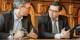 Schieben gemeinsam das Stadionprojekt voran: Freiburgs Oberbürgermeister Dieter Salomon (links) und SC-Vorstand Oliver Leki. Foto: Bicker