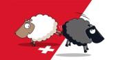 Irgendwie ist das Weltbild der Schweizer ziemlich schwarz-weiss. Mit ein klein wenig rot. Foto: www.svp.ch