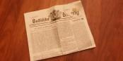 Mit einer der ersten Ausgabe vom 1. Februar 1946 nachempfundenen Ausgabe feiert die BZ ihren 70. Geburtstag. Foto: Eurojournalist(e)