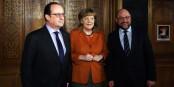 Gutes Essen, gute Gespräche - die Achse Paris-Berlin scheint zu funktionieren. Foto: (c) Présidence de la République / C. Alix