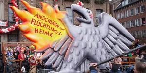L'aigle allemand se brûle les ailes - la violence contre les structures d'accueil est une véritable honte pour tous le pays. Foto: Kürschner / Wikimedia Commons / PD