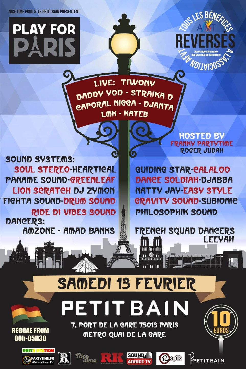 PLAY FOR PARIS 13 FEV 2016 PETIT BAIN