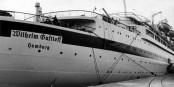 """Ce bateau baptisé au nom de """"Wilhelm Gustloff"""" fut coulé pendant les derniers jours de la guerre. Foto: Bundesarchiv / Bild 121-0665 / Wikimedia Commons / CC-BY-SA 3.0"""