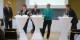 Sie stellten sich den Fragen von IHK-Präsident Dr. Steffen Auer (r.): (v.l.) Jens-Arne Buttkereit (FDP), Gabi Rolland, MdL (SPD), Dr. Patrick Rapp, MdL (CDU), und Edith Sitzmann, MdL (Bündnis 90/Die Grünen). Foto: Michael Bode.