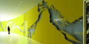 """Wandansicht des Kunstreliefs """"LIMON 2016"""". Fotomontage Schirin Kretschmann."""