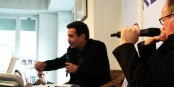 "Edwy Plenel (rechts Moderator Christian Bach) stellte am Samstag in Strassburg sein neues Buch ""Dire nous"" vor. Lesenswert. Foto: Eurojournalist(e)"