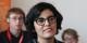 Myriam El-Khomri pouvait garder le sourire - la jeunesse franco-allemande lui a épargné des questions indigèstes... Foto: Eurojournalist(e)