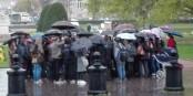 """Schlechtes Wetter, wenig konkrete Ideen, Selbstüberschätzung - in Strassburg geht es """"Nuit debout"""" ganz und gar nicht gut. Schade eigentlich. Foto: Eurojournalist(e)"""