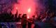 Nach dem Aufstieg - die Party. Mehr als 3000 Fans feierten in Belfort die Rückkehr von Racing in den Profifussball. Foto: Phil Bergdolt / LAFA
