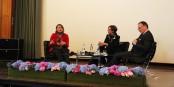 Le face-à-face entre la députée Valérie Rabault et l'économiste Lars Feld dévoilait des différences profondes entre les deux pays. Foto: Eurojournalist(e)