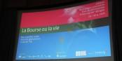 """""""La bourse ou la vie"""" était le sujet des 10e Rencontres culturelles franco-allemandes à Freiburg - un plein succès. Foto: Eurojournalist(e)"""