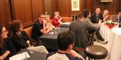Spannende Diskussionen zwischen Studenten und EU-Politikern in der APE. Foto: Michael Magercord / Eurojournalist(e)