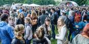 """Im Freiburger Eschholzpark sorgten """"FATCAT"""" für eine tolle Stimmung beim 6. Freiburg Stimmt Ein Festival. Foto: Bicker"""