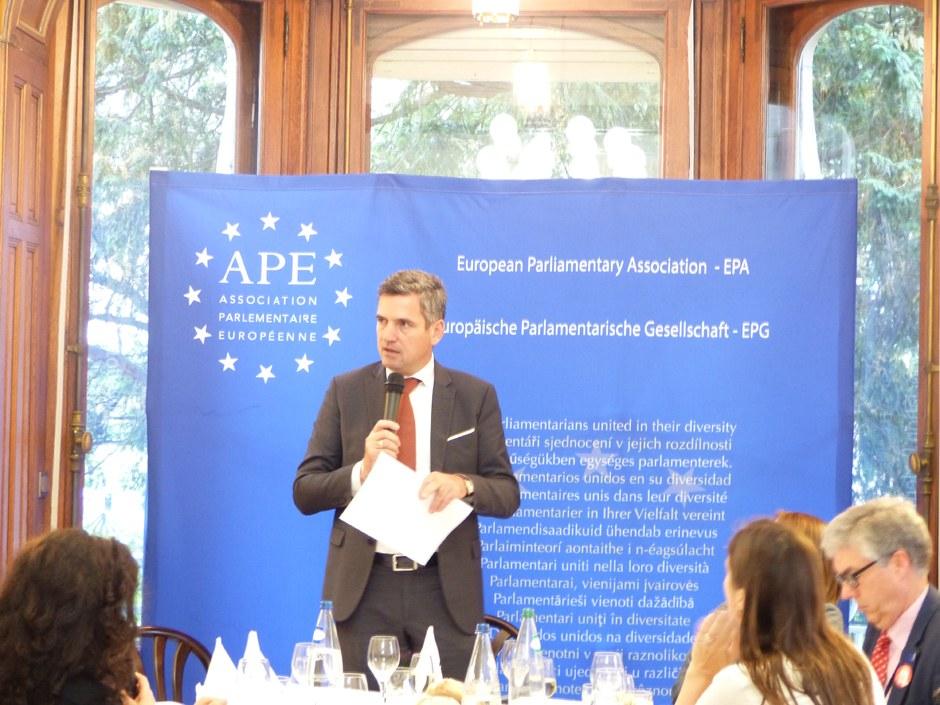 H. Dorfmann, Président de l'APE à Strasbourg. Foto: Gervaise Thirion