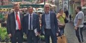 Ulrich von Kirchbach, Robert Herrmann et Bernd Dallmann lors de leur rencontre à Freiburg. Foto: Matthieu Rudler