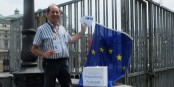 """Jacques Schmitt de l'association """"Unir l'Europe"""" est toujours sur son 5e Itinéraire Européen. Foto: privée"""