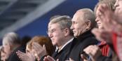 Ziemlich beste Freunde... für seinen Buddy Wladimir hat IOC-Chef Thomas Bach die Augen vor dem russischen Staatsdoping weitgehend geschlossen. Foto: Kremlin.ru / Wikimedia Commons / CC-BY-SA 4.0int