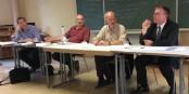 Von links nach rechts - Roman Huber, Jean-Claude Moog, Moderator Kai Littmann, Dr. Joachim Schuster - eine großartige Diskussion! Foto: Eurojournalist(e)