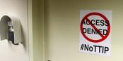 """Der Leseraum für das TTIP-Abkommen im Europäischen Parlament - """"Access denied""""... Foto: Greens / EFA in the European Parliament / Wikimedia Commons / CC-BY 2.0"""