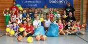 Gruppenbild mit Basketbällen. Foto: USC