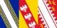 """Après que le logo du """"Grand Est"""" n'ait pas suscité de l'enthousiasme, le drapeau du """"Grand Est"""" pourrait se présenter ainsi... Foto: SiBr4 / Wikimedia Commons / CC-BY-SA 4.0int"""