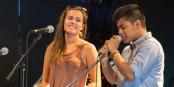 Gesang und Musik zum Ausprobieren am Infotag. Foto: JRS.