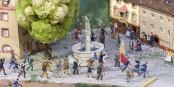 Ausschnitt eines Dioramas zur Badischen Revolution. Foto: Volkmar Vogt.